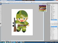 Illustrating drawing painting - cartoon soldier