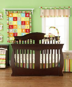 Take a look at this A to Z 4-Piece Crib Bedding Set by Too Good by Jenny McCarthy on #zulily today!