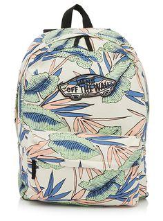 - Vans chez Simons - Un fond qui rappelle le sable des plages tropicales décoré d'un imprimé pastel ultra charmant - Pochette zip devant - Fermoir zip sur le dessus - Bretelles ajustables - Hauteur : 18 pouces - Largeur : 14,5 pouces - Profondeur : 5 pouces