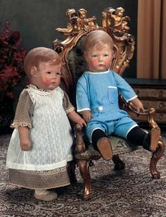 The Dolls in the House at the Top of the Hill: 228 Early Period German Cloth Character Doll by Kathe Kruse