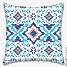 """Купить Подушка декоративная """"Орнамент"""" - комбинированный, Подушки, подушки декоративные, подушки диванные, подушка с принтом"""