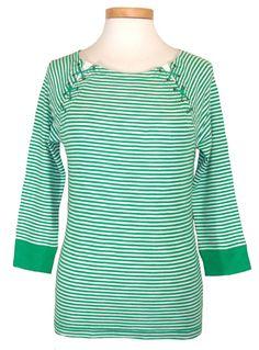 Ralph Lauren Womens Shirt Knit Top Lace Up Raglan Stripes Green White Sz PM NEW #LaurenRalphLauren #KnitTop #Casual