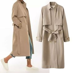 Pearlly Classic Trench Coat - The Wild Flower Shop    Casual & smart, the must have piece for Fall! This trench coat include the belt, basic collar and double breasted button front with long line silhouette. A main stay, cool anytime and anywhere. Oversize look with functional pockets and front buttons closure. • 2 side pockets • Fully lined • Weight: 935 grams Material: Cotton / Poly blend   $55