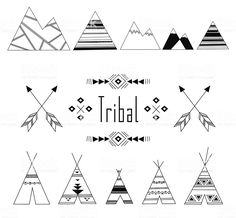 Tribal Indian set royalty-free tribal indian set stock vector art & more images of 2015 Indian Symbols, Tribal Symbols, Geometric Symbols, Tribal Art, Mayan Symbols, Viking Symbols, Egyptian Symbols, Viking Runes, Ancient Symbols
