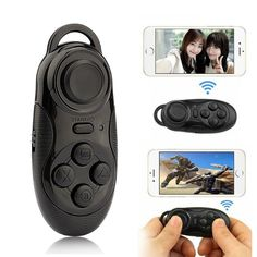 3 in1 Wireless Bluetooth Gamepad Game Controller Selfie Remote Shutter Mouse For IOS Android PC Laptop TV Box