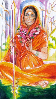 Sacred India Tarot Queen of Staves - Radha Ma Svaha