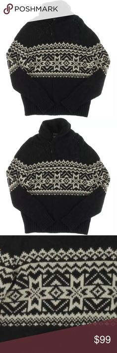 Polo Ralph Lauren Black-Ivory Nordic Sweater M Polo Ralph Lauren  Mens Black-Ivory Nordic Print Pullover Sweater M  Ralph Lauren stands for American Tradition- since 1967. Timeless design and modern luxury f make up its fulll line of quality apparel Manufacturer: Polo Ralph Lauren Size: M Manufacturer Color: Black-Cream Retail: $265.00 Condition: New with tags Style Type: Pullover Sweater Collection: Polo Ralph Lauren Sleeve Length: Long Sleeve Neckline: Shawl Material…