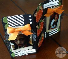 Halloween panel by Jen del Muro. Reverse Confetti stamp sets: Pumpkin Patch and Too Cute to Spook. Confetti Cuts: Double Edge Scallop Border, Wreaths, Pumpkin Patch and Thanks Tag. DIY Halloween decor.