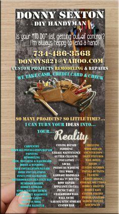 Odd Jobs Flyer | Graphic Design: Handyman | Pinterest | Business ...