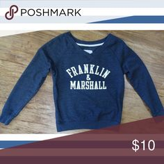 "Franklin & Marshall Sweatshirt Franklin & Marshall Blue V Neck Sweatshirt by Redshirt / EUC / Size S / Excellent Condition / Measurements: Chest 38""; Length (Shoulder to Bottom Hem) 22 1/2"" Red Shirt Tops Sweatshirts & Hoodies"