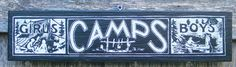 1920s Vintage Summer Camp Sign by Zietlow's Custom Signs - eclectic - Outdoor Decor - Etsy