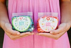 Gourmet popcorn favors for baby showers