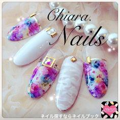 ネイル 画像 Chiara. nails♡(キアラネイルズ) 石橋 1475973 Japanese Nail Design, Japanese Nail Art, Nail Art Designs Videos, Short Nail Designs, Water Color Nails, Magic Nails, Beach Nails, Manicure Y Pedicure, Feet Nails