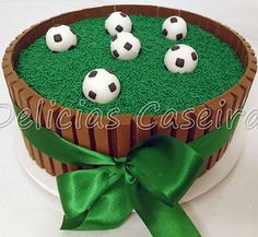 Football Birthday Cake, Soccer Birthday Parties, Lizard Cake, Bolo Diy, Soccer Ball Cake, Sport Cakes, Buy Cake, Candy Cakes, Number Cakes