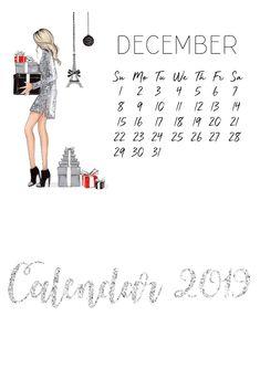 2019 Calendar, Desk Calendars, Watercolor Pencils, Fashion Art, Original Artwork, Merry Christmas, I Shop, Mini, Illustration