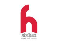 Sixhat communication logo design The icon represent 6 & h