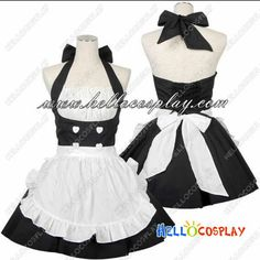 Gothic Chobits Lolita Cosplay Halloween New Maid Cosplay, Lolita Cosplay, French Maid Dress, Maid Outfit, Cute Lingerie, Kawaii Clothes, Alternative Outfits, Character Outfits, Lolita Dress