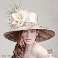 View more info about the April Widebrim Hat by Arturo Rios (Beige)