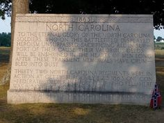 To the North Carolina Soldiers who died at Gettysburg