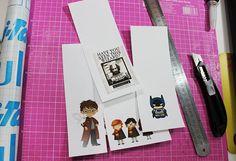 {Tutorial} Mais marcadores de páginas - Harry Potter bookmark