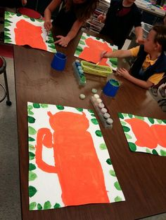 "Second grade kids created tiger masterpieces like Henri Rousseau!        We read the story ""The Fantastic Jungles of Henri Rousseau""  and le..."