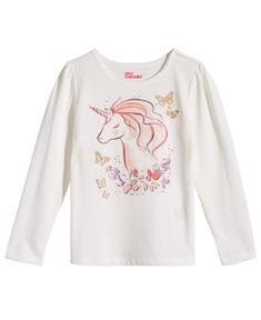 df974bd1 Epic Threads Toddler Girls Long-Sleeve Unicorn T-Shirt, Created for Macy's  & Reviews - Shirts & Tees - Kids - Macy's