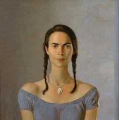 Miss Moss · bo bartlett American Realism, American Artists, Braids Tutorial Easy, Bo Bartlett, Miss Moss, Feminine Mystique, Portraits, Figure Painting, Woman Face