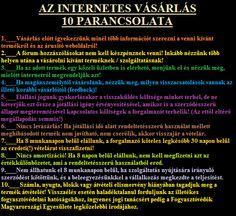 Az INTERNETES VÁSÁRLÁS Tízparancsolata