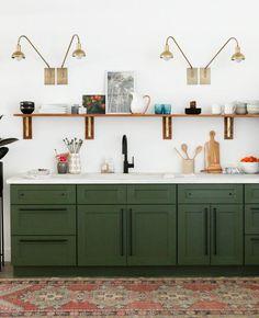 Studio Kitchen Reveal & Cabinet Painting Tutorial - Little Green Notebook
