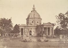 Photograph of St. James's Church in Delhi from 'Murray Collection: Views in Delhi, Cawnpore, Allahabad and Benares' taken by Dr. John Murray in 1858 after the Uprising of 1857.
