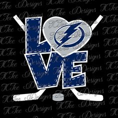 Love Lightning - Tampa Bay Lightning - Hockey SVG File - Vector Design Download - Cut File by TCTeeDesigns on Etsy