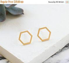 59975bd42a78 Cyber Monday Sale Joni Post Earrings Hexagon by ShlomitOfir Cyber Monday  Sales