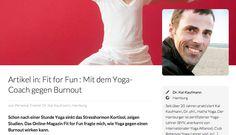 """Das Magazin """"Fit for Fun"""" über mein Programm """"Yoga gegen Burnout"""""""