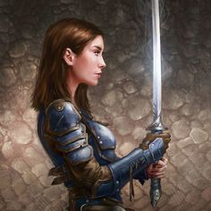 If I were a knight this would be me. She looks exactly like me!