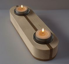 Double tea light holder