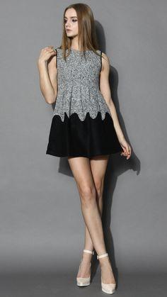 Melt Down Wool Blend Grey Dress