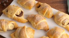 I'm always trying to find new ways to use up my ripe bananas!! Chocolate Banana Crescent Rolls - Delish.com