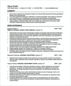 Resume For Business Analyst Pinmarcia On Jobs  Pinterest  Business Analyst Business And