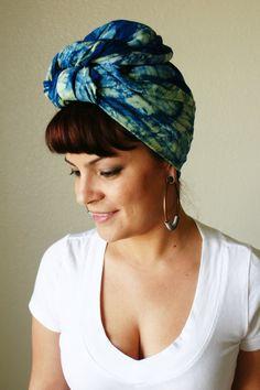 Batik Head wrap/Scarf/Head Scarf/Urban Fashion/Abstract Scarf