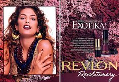 Favorite model and favorite makeup lipstick color of revlon in the - Claire Revlon Lipstick, Lipstick Colors, Makeup Lipstick, Cindy Crawford, Vintage Makeup, Vintage Beauty, Vintage Ads, Makeup Ads, 80s And 90s Fashion