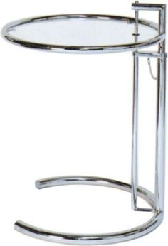 Eileen Gray Table by Eileen Gray 1929 Eileen Gray, Bauhaus Furniture, Grey Side Table, Home Living Room, A Table, Art Deco, House Design, Mirror, Modern