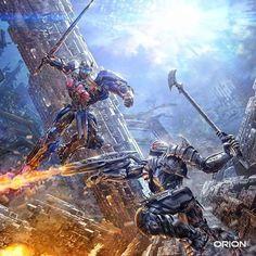 "Transformers The Last Knight - ""Optimus Prime X Megatron"" Transformers Decepticons, Transformers Bumblebee, Transformers Optimus Prime, Les Aliens, Arte Robot, Transformers Collection, Last Knights, My Idol, Anime"