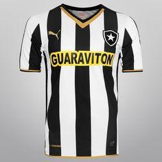 Camisa Puma Botafogo I 2014 s/nº - Torcedor - Preto+Branco