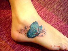 3d butterfly tattoos for women | women foot tattoos,women butterfly tattoo designs,women butterfly foot ...