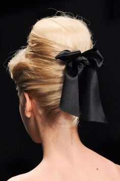 PPQ: Also at PPQ, the bouffants were embellished with dainty bows in back.