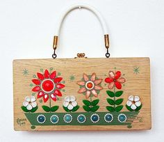 """Flower Box"" box purse"