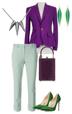 Violet + Green N1 by ninafuntik on Polyvore featuring Ralph Lauren, Theory, Jill Haber and Mark Davis