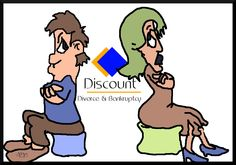 Logo designed for Discount Divorce and Bankruptcy   by J. F. Jennings  2014