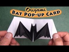 Origami Bat Pop-up Card (no music) - YouTube