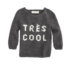 tres cool sweater for a very cool kid.